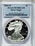Modern Bullion Coins, Eagle $1 2004-W PR70 Deep Cameo PCGS. PCGS Population (1779). NGCCensus: (9032). Numismedia Wsl. Price for problem free N...
