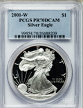 Modern Bullion Coins: , Eagle $1 2001-W PR70 Deep Cameo PCGS. PCGS Population (1038). NGCCensus: (3526). Numismedia Wsl. Price for problem free N...