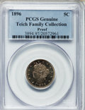 Proof Liberty Nickels, 1896 5C -- Environmental Damage -- PCGS Genuine. Ex: Teich FamilyCollection. Mintage: 1,862....
