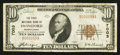 National Bank Notes:Pennsylvania, Swineford, PA - $10 1929 Ty. 1 The First NB Ch. # 7003. ...