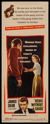 "Rebel without a Cause (Warner Brothers, 1955). Insert (14"" X 36""). Drama"