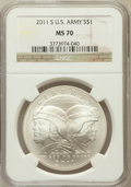 Modern Issues, 2011-S $1 U.S. Army MS70 NGC. NGC Census: (438). PCGS Population(227). Numismedia Wsl. Price for problem free NGC/PCGS co...