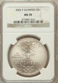Modern Issues: , 2002-P $1 Olympics MS70 NGC. NGC Census: (706). PCGS Population(353). Numismedia Wsl. Price for problem free NGC/PCGS coi...
