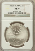 Modern Issues, 2002-P $1 Olympics-Salt Lake City MS70 NGC. NGC Census: (706). PCGSPopulation (353). Numismedia Wsl. Price for problem fr...