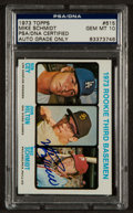 Autographs:Sports Cards, Signed 1973 Topps Mike Schmidt #615 PSA/DNA Gem MT 10. ...