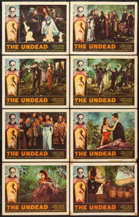 """The Undead (American International, 1957). Lobby Card Set of 8 (11"""" X 14""""). Horror. ... (Total: 8 Items)"""