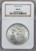 Morgan Dollars: , 1902-O $1 MS65 NGC. NGC Census: (6333/556). PCGS Population(4136/507). Mintage: 8,636,000. Numismedia Wsl. Price for probl...