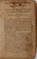 Books:Biography & Memoir, George Washington [subject]. Henry Lee. A Funeral Oration on the Death of George Washington. [n. p., n. d.]. 165 pag...