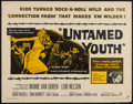 "Movie Posters:Exploitation, Untamed Youth (Warner Brothers, 1957). Half Sheet (22"" X 28"").Exploitation.. ..."