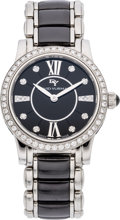 Luxury Accessories:Accessories, David Yurman Stainless Steel Watch with Diamond Bezel &Markers. ...