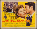 """Movie Posters:Drama, The Valley of Decision (MGM, 1945). Half Sheet (22"""" X 28"""") Style B.Drama.. ..."""