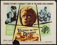 """Village of the Damned (MGM, 1960). Half Sheet (22"""" X 28""""). Science Fiction"""
