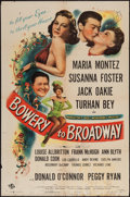 "Movie Posters:Comedy, Bowery to Broadway (Universal, 1944). One Sheet (27"" X 41""). Comedy.. ..."