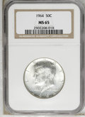Kennedy Half Dollars: , 1964 50C MS65 NGC. NGC Census: (366/222). PCGS Population(893/806). Mintage: 273,300,000. Numismedia Wsl. Price: $17.(#67...