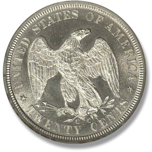 Twenty Cent Piece. 1875-1878
