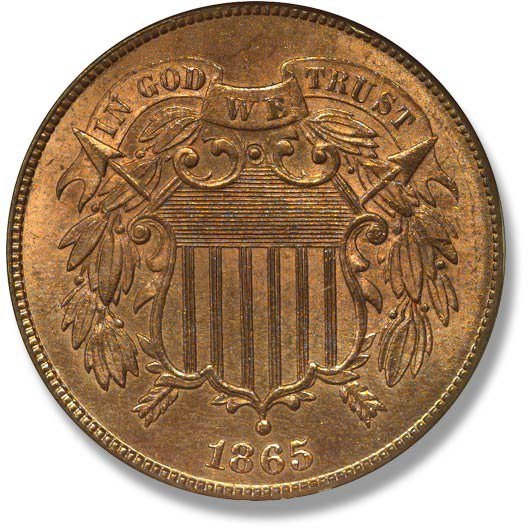 Two Cent Piece. 1864-1873
