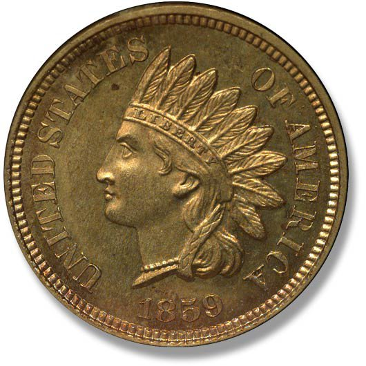 Indian Head. No Shield. 1859