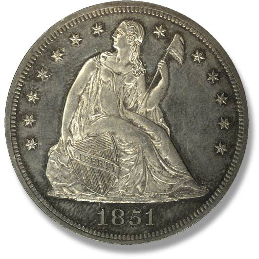 Liberty Seated. No Motto. 1840-1865