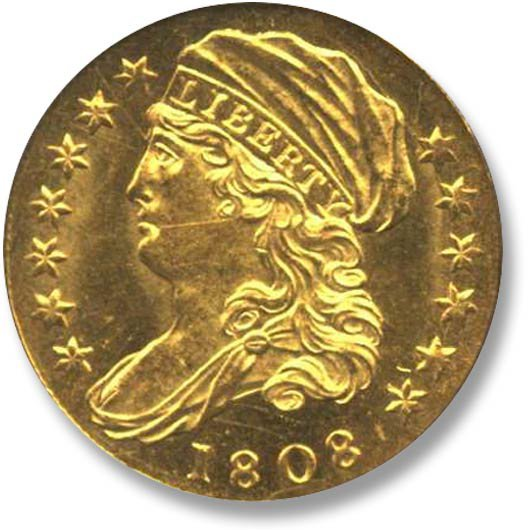 Capped and Draped Bust Facing Left 1808