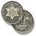 Three Cent Piece. Silver. 2 outlines to star. 1859-1873