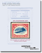 Catalog cover for 2009 August Signature Stamp Auction