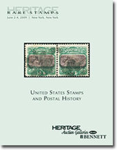 Catalog cover for 2009 June New York, NY Signature Rare Stamps Auction