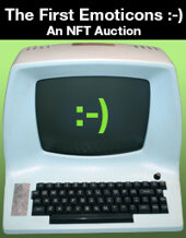 Catalog cover for 2021 September 23 The First Emoticons :-) An NFT Auction