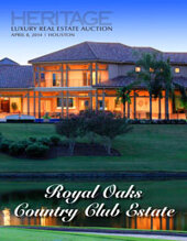 Catalog cover for 2014 April 8 Luxury Real Estate Signature Auction -