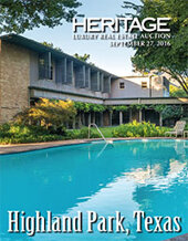 Catalog cover for 2016 September 27 Highland Park, TX Real Estate Signature Auction - Dallas