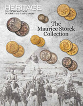 Catalog cover for 2020 October 14 - 17 The Maurice Storck Collection US Coins Signature Auction