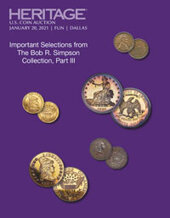Catalog cover for 2021 January 20 - 24 FUN US Coins Signature Auction