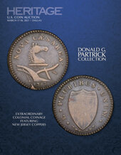 Catalog cover for 2021 March 17 - 18 The Donald G. Partrick Collection of Extraordinary Colonial Coinage Featuring New Jersey Coppers  Signature Auction
