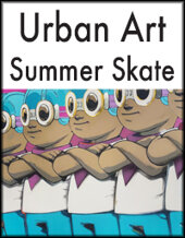 Catalog cover for 2020 August 5 Urban Art: Summer Skate Monthly Online Auction