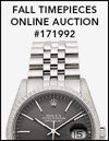 Fall Timepieces Online Auction