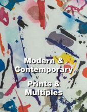 Catalog cover for Prints and Multiples Online Auction