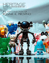 Catalog cover for 2018 November 7 The Toy Collection of Ronnie K. Pirovino