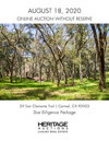 LRE - San Clemente Trail at the Santa Lucia Preserve Real Estate Executive Showcase Auction