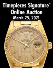 Catalog cover for 2021 March 25 Timepieces Online Auction
