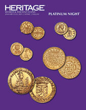 Catalog cover for 2021 January 21 - 22 NYINC World & Ancient Coins Platinum & Signature Auction - Dallas