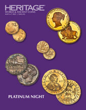 Catalog cover for 2021 May 6 - 7 World and Ancient Coins Platinum Night Auction - Dallas