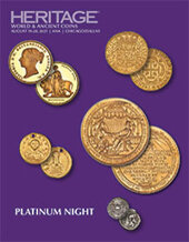 Catalog cover for 2021 August 19 - 20 ANA WFOM World & Ancient Coins Platinum Night Signature Auction
