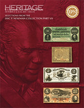 Catalog cover for 2015 October 21 - 24 Eric P. Newman Collection Part VII Currency Signature Auction - Dallas