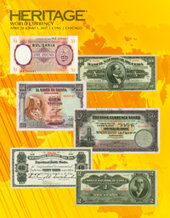 Catalog cover for 2017 April 26 - May 2 CSNS World Currency Signature Auction - Chicago