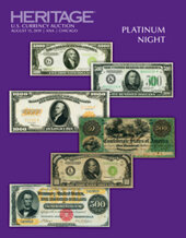 Catalog cover for 2019 August 15 ANA World's Fair of Money Currency Platinum Night Auction - Chicago