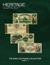 Catalog cover for 2020 November 4 - 5 The Mike Coltrane Collection Part 1 Currency Signature Auction - Dallas