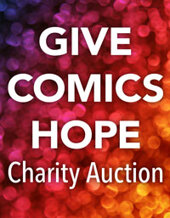 Catalog cover for Give Comics Hope Charity Auction
