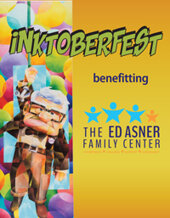 Catalog cover for Inktoberfest for the Ed Asner Center Charity Auction