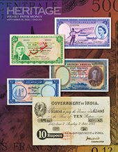 Catalog cover for 2020 September 18 World Paper Money Signature Auction - Dallas