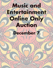 Catalog cover for 2019 December 7 Music & Entertainment Signature Internet Auction