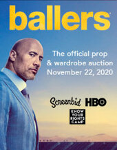 Catalog cover for 2020 November 12 HBO's BALLERS, an Exclusive Auction of Props & Costumes, Presented by ScreenBid and Heritage Auctions